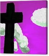The Cross On Purple Canvas Print
