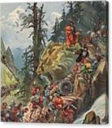 The Crossing Of The Alps, Illustration Canvas Print