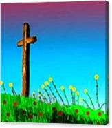 The Crossn The Field Canvas Print