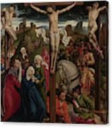 The Crucifixion Dreux Budé Master, Possibly André Dypres Canvas Print