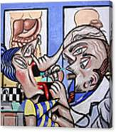 The Cubist Doctor Md Canvas Print