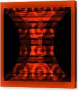 The Curtain - Orange  Canvas Print