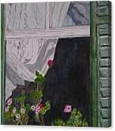 The Curtain Canvas Print