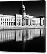 The Custom House Reflected In The River Liffey First Of Dublins Public Buildings Architect Was James Gandon Canvas Print