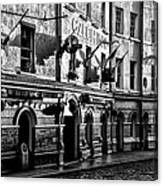 The Czech Inn - Dublin Ireland In Black And White Canvas Print