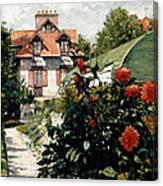 The Dahlias Garden At Petit Gennevilliers Canvas Print