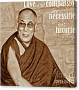 The Dalai Lama Canvas Print