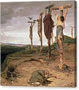 The Damned Field Execution Place In The Roman Empire Canvas Print