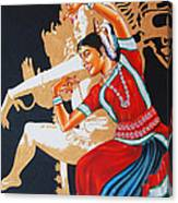 The Dance Divine Of Odissi Canvas Print