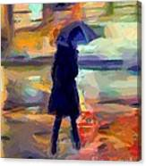 The Day For An Umbrella Canvas Print
