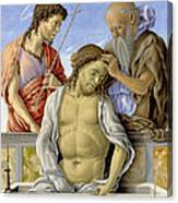 The Dead Christ Supported By Saints Canvas Print