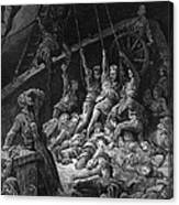 The Dead Sailors Rise Up And Start To Work The Ropes Of The Ship So That It Begins To Move Canvas Print