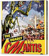 The Deadly Mantis 1957 Vintage Movie Poster Canvas Print