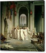 The Death Of Caesar Canvas Print