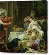 The Death Of Cleopatra, 1755 Oil On Canvas Canvas Print
