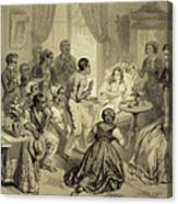The Death Of Evangeline, Plate 6 Canvas Print