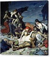 The Death Of Ravana Canvas Print