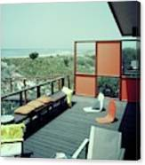 The Deck Of A Beach House Canvas Print