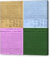 The Declaration Of Independence In Colors Canvas Print