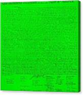 The Declaration Of Independence In Green Canvas Print