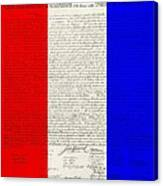 The Declaration Of Independence In Red White Blue Canvas Print