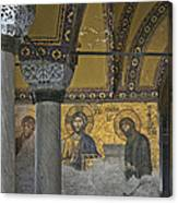 The Deesis Mosaic At Hagia Sophia Canvas Print