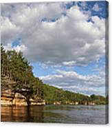 The Dells Of The Wisconsin River Canvas Print