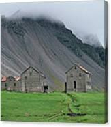 The Deserted Farm Horn In Iceland Canvas Print