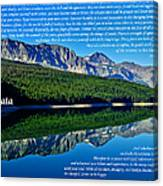 The Desiderata And Lake Sherburne Canvas Print
