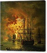 The Destruction Of The Turkish Fleet At The Bay Of Chesma Canvas Print