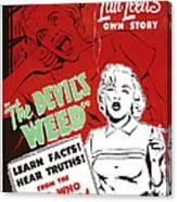 The Devils Weed, Aka Wild Weed, Aka She Canvas Print