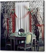 The Dining Room In James A. Beard's Home Canvas Print