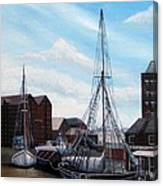 The Docks Gloucester Canvas Print