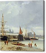 The Docks On The Bank At Greenwich  Canvas Print