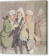 The Doctors Consultation, 1815-1820 Pen And Ink And Wc Over Graphite On Paper Canvas Print