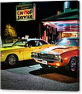 The Dodge Boys - Cruise Night At The Sycamore Canvas Print