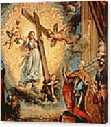 The Doge Grimani Kneeling Before Faith Canvas Print