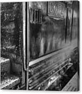 The Door Of Steam Train Canvas Print