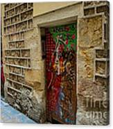 The Door And The Wonderful Wall Canvas Print