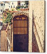 The Door With Overview Of Ronda Canvas Print