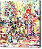 The Doors Live Concert Portrait Canvas Print