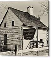 The Downingtown Log House  Canvas Print