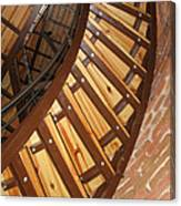 The Downside Of Spiral Stairs Canvas Print