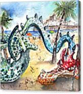 The Dragon From Penicosla Canvas Print