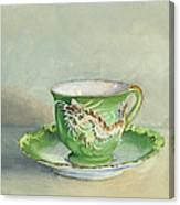 The Dragon Teacup Canvas Print