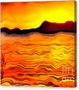 The Dream Landscape On Balaton Lake Canvas Print