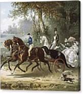 The Drive La Promenade, Illustration Canvas Print
