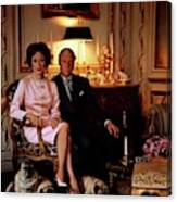 The Duke And Duchess Of Windsor In Their Paris Canvas Print