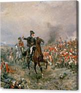 The Duke Of Wellington At Waterloo Canvas Print