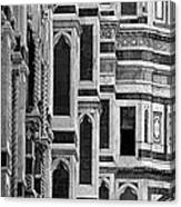 The Duomo Black And White Canvas Print